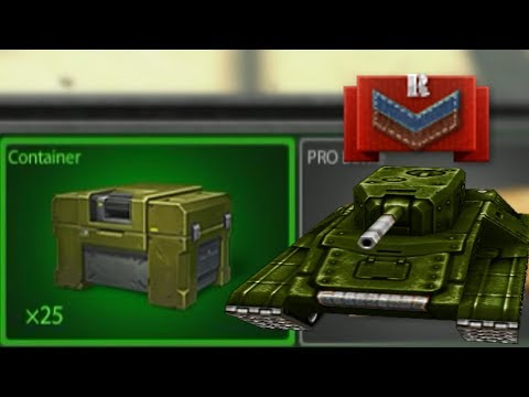 Tanki Online Opening 25 CONTAINERS AT Recruit Rank