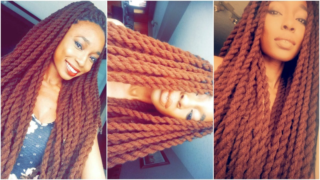 Protective Hairstyles Mini Tutorial Long Brown Yarn Twists