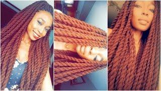 Protective Hairstyles (Mini Tutorial) 🌸 Long brown yarn twists