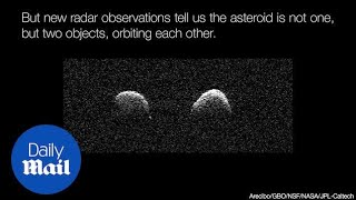 Rare TWIN asteroids pass by earth in amazing telescope footage - Daily Mail thumbnail