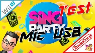 [Wii U] TEST MIC USB from SING PARTY + camstasia :D (Español) 08/03/2014