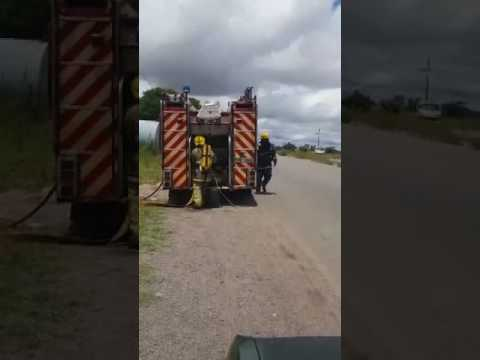 Mpopoma Zesa Sub Station catches fire