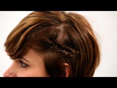 How to Fishtail Braid Short Hair, Pt. 1 - Short Hairstyles - 동영상