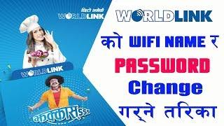 how to change worldlink wifi password