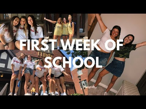 FIRST WEEK OF SCHOOL VLOG | university of illinois