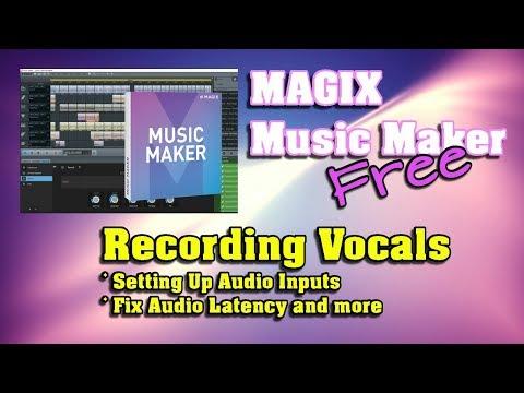 MAGIX Music Maker FREE 2017 - Recording Vocals