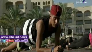 تمرينات رياضية لتقوية عضلات الجسم على «صباح البلد».. فيديو