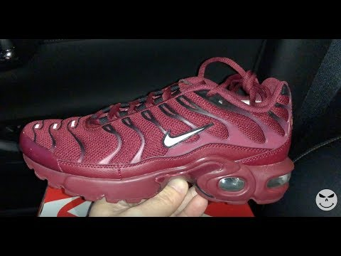 e6f838128a Nike Air Max Plus Burgundy Womens Red sneakers - YouTube
