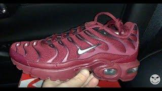 Nike Air Max Plus Burgundy Womens Red