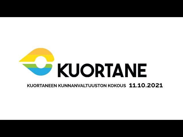 Kuortaneen kunnanvaltuuston kokous 11.10.2021