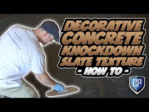 Decorative Concrete Knockdown Slate Texture  HOW TO  YouTube