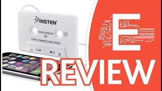 Insten Car Cassette Tape Deck Adapter Compatible w Overview