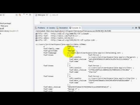 Apache Jena tutorial - write models in different formats with jena RDF,TURTLE,JSON)