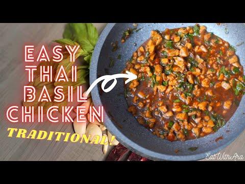 How To Make Easy Thai Basil Chicken Recipe (Pad Krapow Gai)!