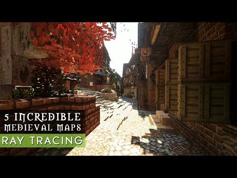 5 Gigantic Medieval Minecraft Maps With Download & Ray Tracing SEUS PTGI E7.1 [4K]