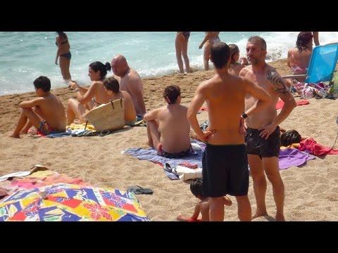 Blanes beach - Costa Brava, Catalonia, Spain