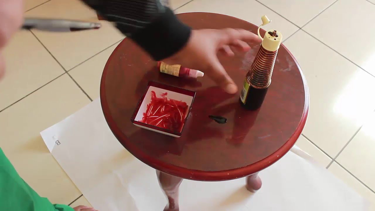 how to get fake blood out of carpet
