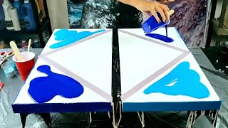 7 Amazing Ocean Inspired Acrylic Pour Paintings / Abstract Art Ideas / Acrylic Pouring / Fluid Art