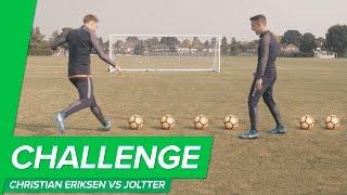 Crossbar Challenge: CHRISTIAN ERIKSEN vs JOLTTER - Unisport VS Pro football player!