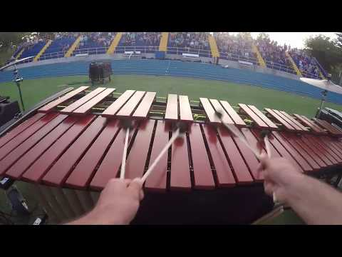 Newtown High School Marching Band 2017 Marimba Cam - Dystopia