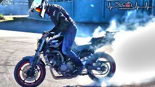 YAMAHA FZ6 needs new rear tyre! time for BURNOUTs?