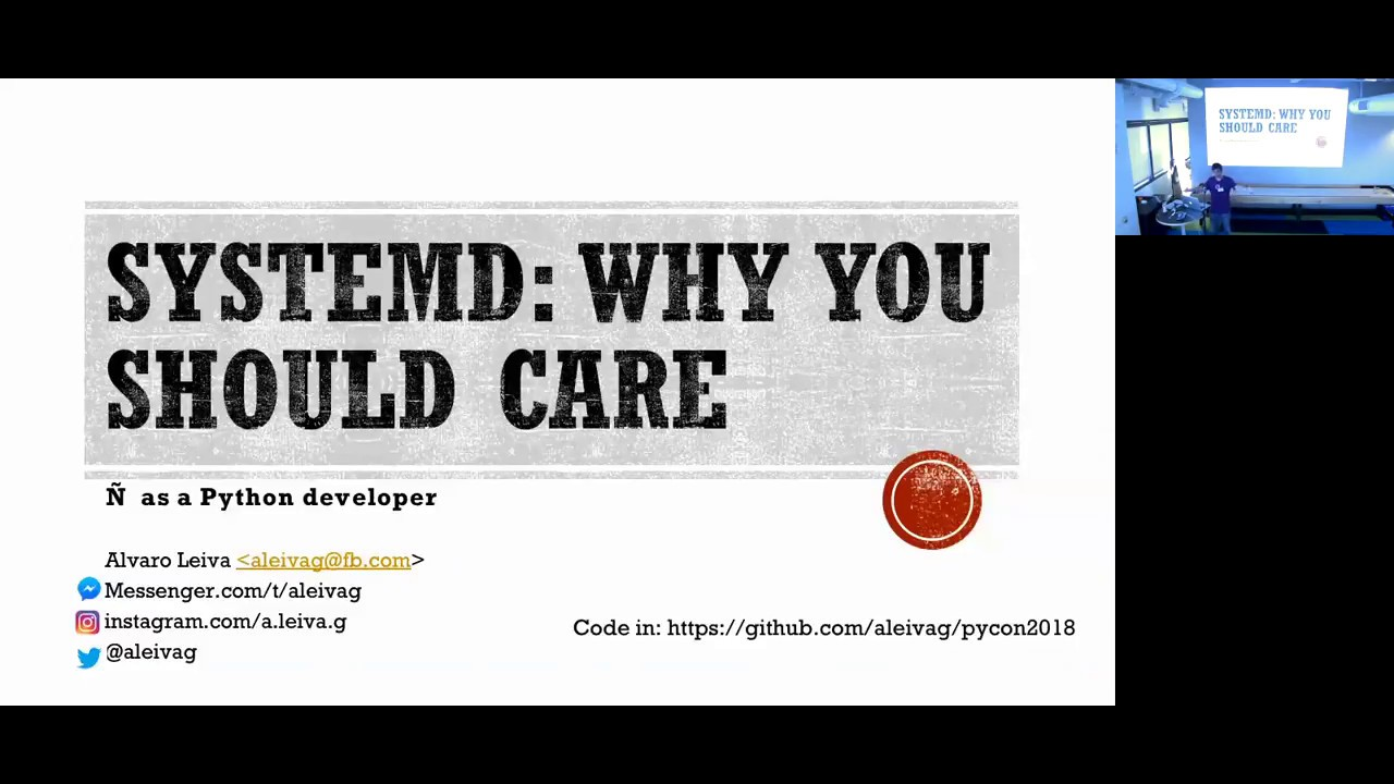 Image from Alvaro Leiva - Systemd: Why You Should Care (The Short Version) - Pyninsula #15