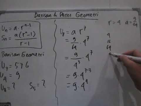 Contoh Soal Un Barisan Geometri Soal Yang Sering Muncul Tentang Barisan Geometri Youtube