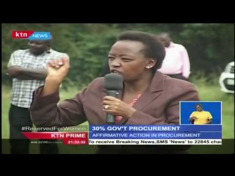 Rachel Ruto encouraged people to take advantage of the government's public procurement