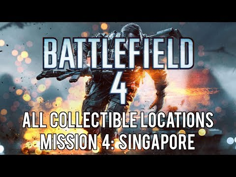 Battlefield 4 - All Collectible Locations (Weapons And Dog Tags) - Mission 4: Singapore