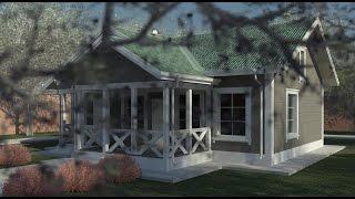 Одноэтажный каркасный дом 7,75х11 м. Проект КД-35(, 2016-08-29T14:22:02.000Z)
