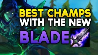 Скачать BEST CHAMPIONS With The NEW BLADE OF THE RUINED KING League Of Legends