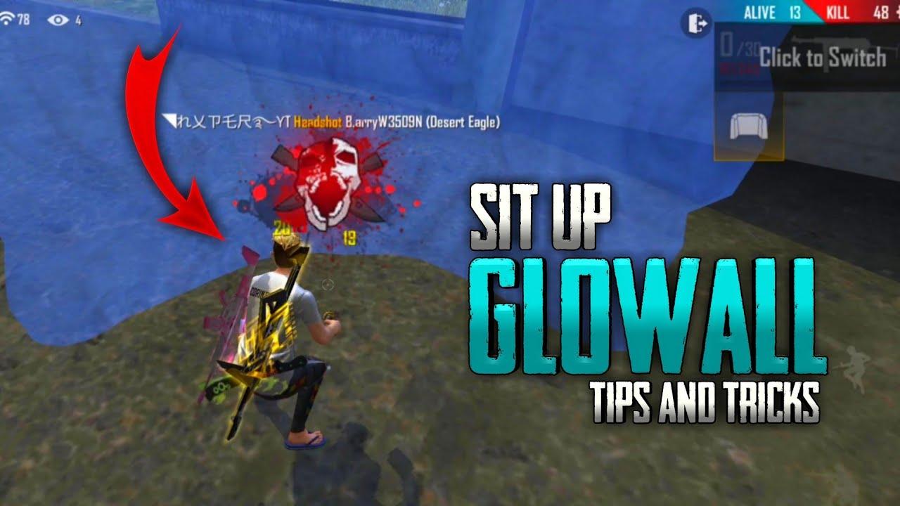 Sit Up Glowall Tricks Tamil || Free Fire Tricks Tamil || Sk Gaming