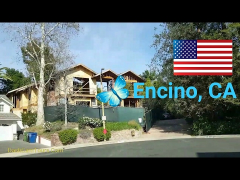 Dash Cam Tours - 2017 Los Angeles Driving Tour: Encino, CA
