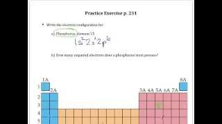 Practice Exercise p 231 Electron Configuration and Unpaired Electrons