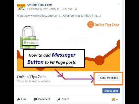 How to add send message for FB Page Post