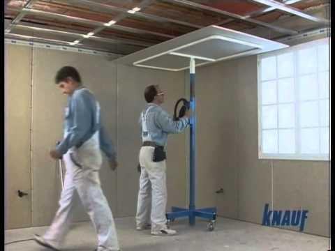 Knauf construccion techo youtube - Como hacer placas de yeso ...