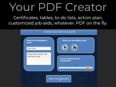 Articulate Storyline to Create a Customized PDF on the Fly