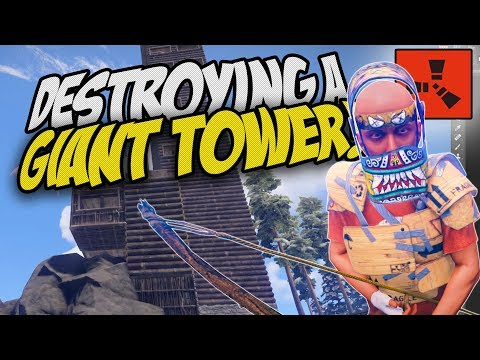 BREAKING INTO A GIANT TOWER! - Rust Solo Survival Gameplay