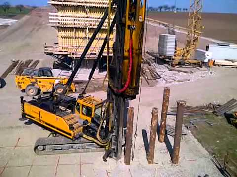 Conway piling timber piling youtube for Wood piling foundation
