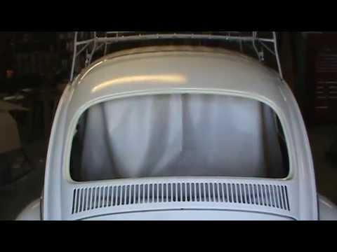 67 VW Beetle Headliner Installation # 4