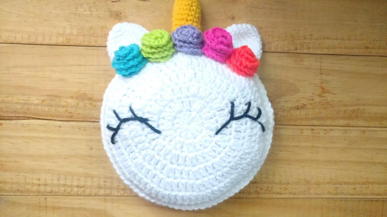 Crochet Unicorn Pillow - Cushion Step by Step