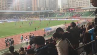 CSL2017広州富力vs長春亜泰 2017.3.12 試合終了の瞬間