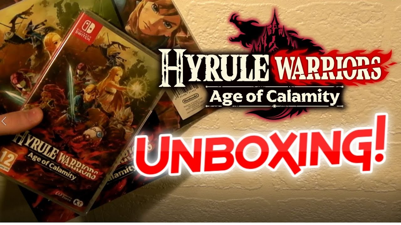 Hyrule Warriors Age Of Calamity Unboxing Pre Order Bonus Notebook Poster And Cards Nintendo Switch Youtube