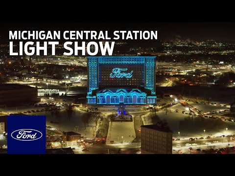 Ford Motor Company: Michigan Central Station Light Show | Ford In Your Community | Ford