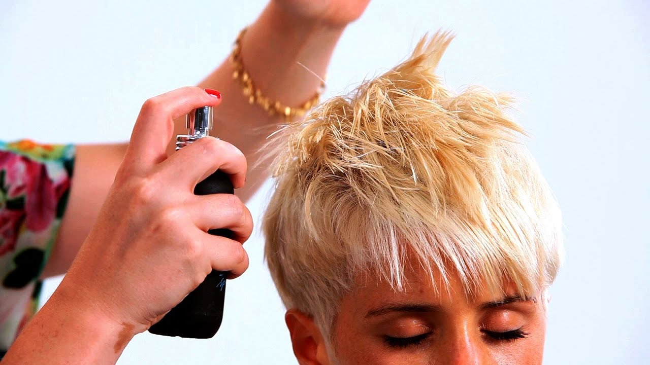 Styling A Pixie Haircut With Long Bangs Short Hairstyles Youtube