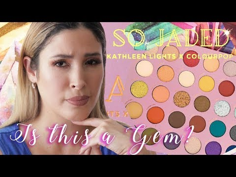 IS THIS A GEM? SO JADED COLOURPOP x KATHLEEN LIGHTS Eyeshadow Palette | Review Swatches Comparisons thumbnail