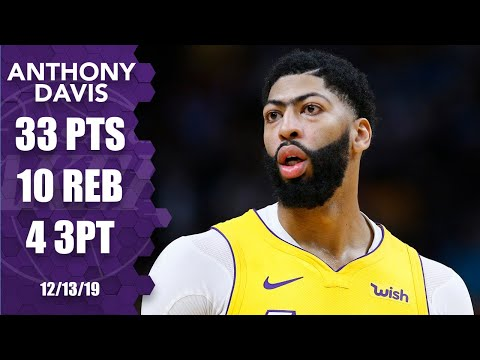 Anthony Davis drops 33 points, 10 rebounds in Lakers vs. Heat matchup   2019-20 NBA Highlights