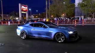 Парад из пикапов и машин после SEMA 2017. Las Vegas.