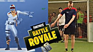 FORTNITE DANCES in FOOTBALL! Fortnite cheer in REAL LIFE! V-Bucks for free!