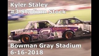 Kyler Staley  #3 Stadium Stock 6-16-2018 Bowman Gray Stadium